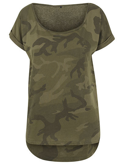BY064 Build Your Brand Ladies Camo Tee