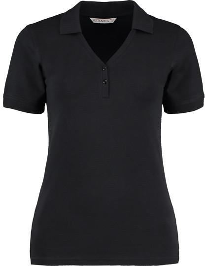K732 Kustom Kit Sophia Comfortec® V Neck Polo Shirt