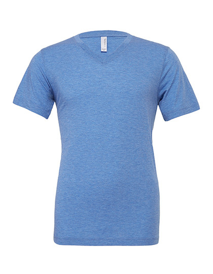 CV3415 Canvas Triblend V-Neck T-Shirt