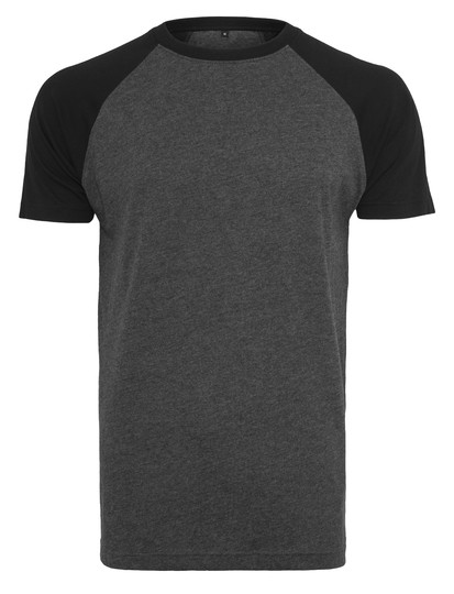 BY007 Build Your Brand Raglan Contrast Tee