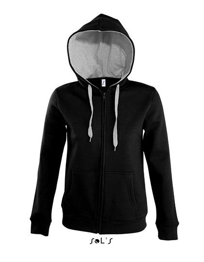 L481 SOL´S Contrast Hooded Zip Jacket Soul Women