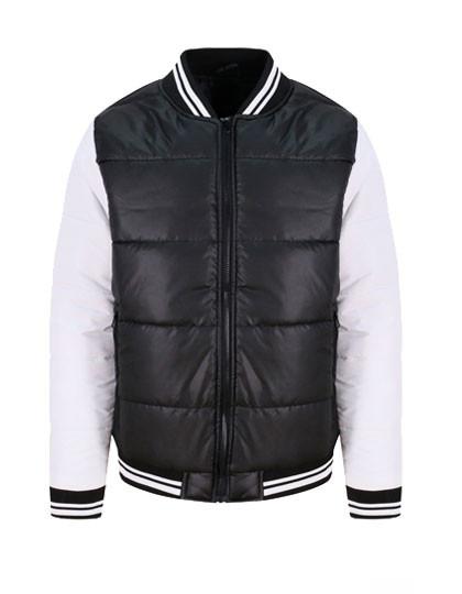 JH049 Just Hoods Varsity Puffer Jacket
