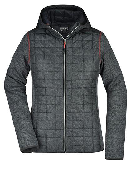 JN771 James+Nicholson Ladies' Knitted Hybrid Jacket