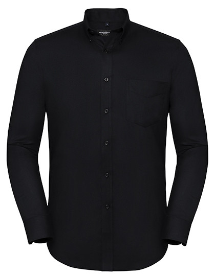 Z928 Russell Collection Men`s Long Sleeve Tailored Button-Down Oxford Shirt