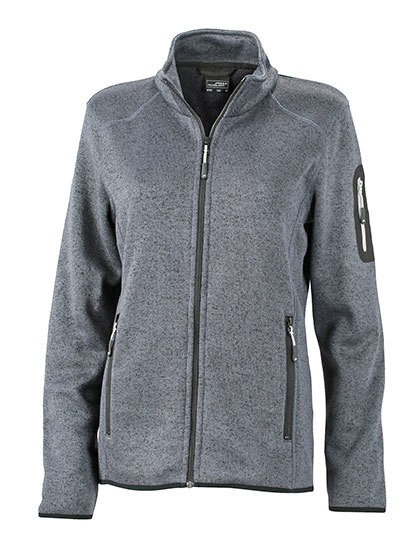 JN761 James+Nicholson Ladies` Knitted Fleece Jacket