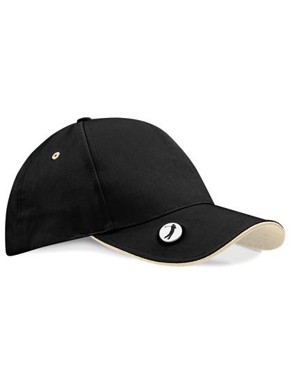 CB185 Beechfield Pro-Style Ball Mark Golf Cap