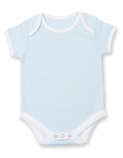 LW051 Larkwood Contrast Baby Bodysuit