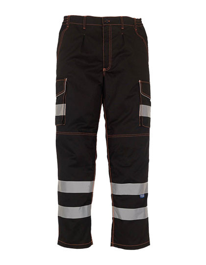 YK018T YOKO High Visibility Cargo Trousers with Knee Pad Pockets