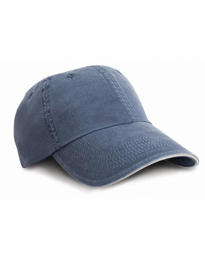 RH54 Result Headwear Washed Sandwich Peak Cap