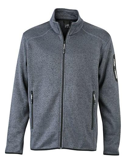 JN762 James+Nicholson Men`s Knitted Fleece Jacket