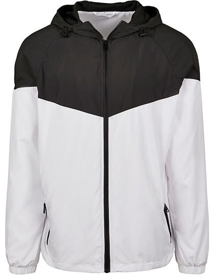 BY129 Build Your Brand 2-Tone Tech Windrunner