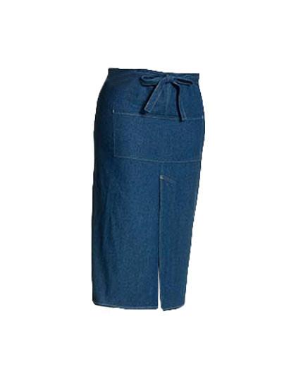 X992 Link Kitchenwear Jeans Bistroschürze mit Gehschlitz