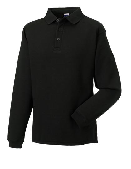 Z012 Russell Workwear-Sweatshirt mit Kragen und Knopfleiste