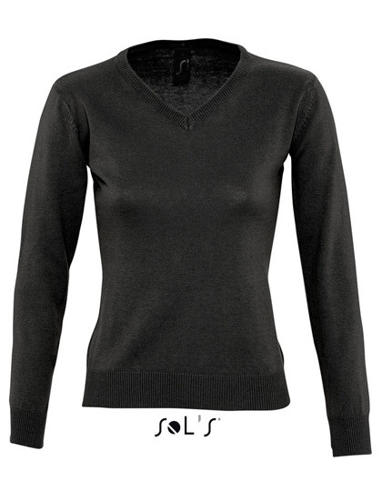 L411 SOL´S Womens V Neck Sweater Galaxy