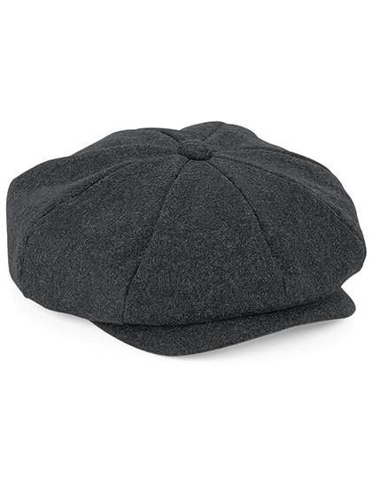 CB629 Beechfield Melton Wool Baker Boy Cap