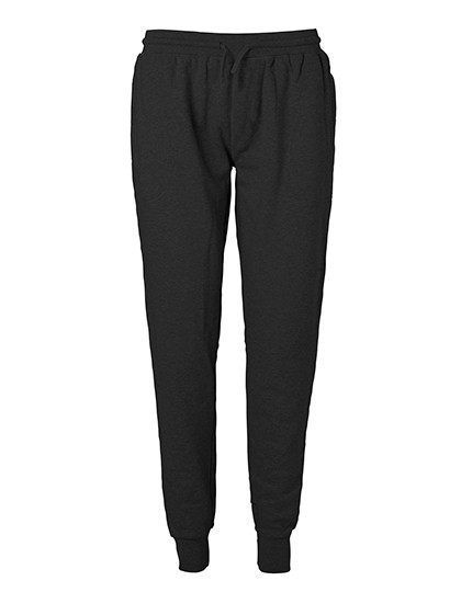 NE74002 Neutral Sweatpants with Cuff and Zip Pocket