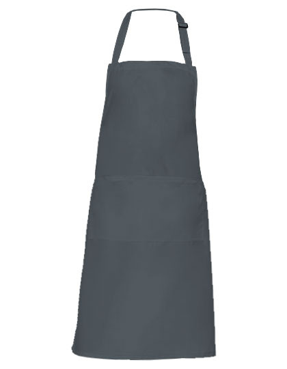 KY044 Karlowsky Latzschürze Basic mit Tasche und Schnalle