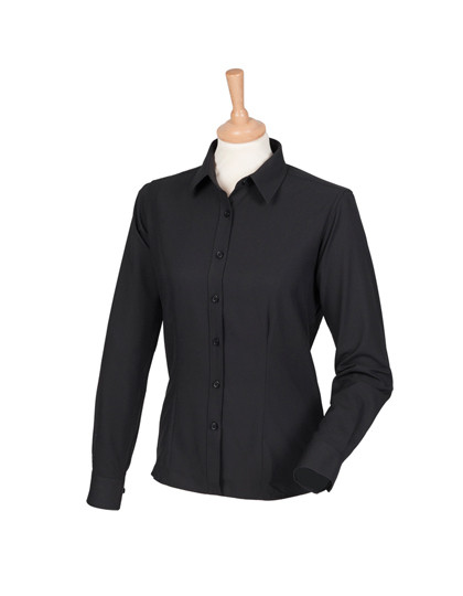 W591 Henbury Ladies Wicking Long Sleeve Shirt