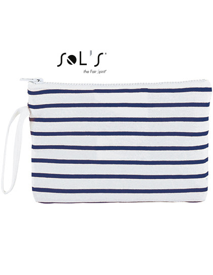 LB02086 SOL´S Bags Striped Jersey Case Aurora