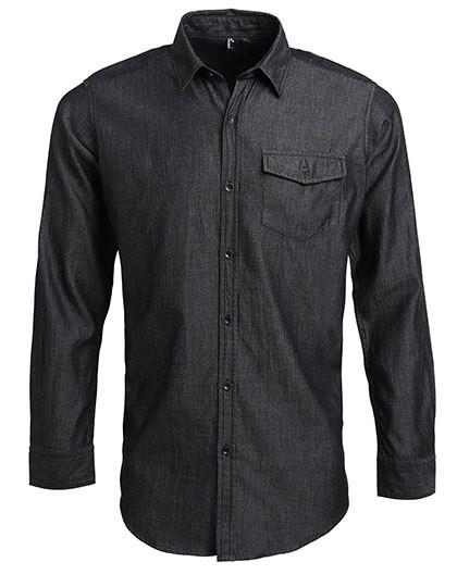 PW222 Premier Workwear Men`s Jeans Stitch Denim Shirt