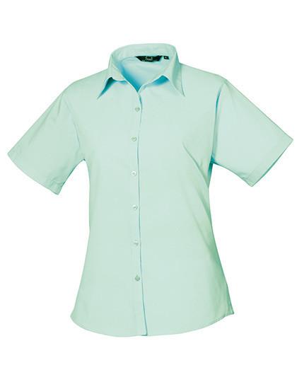 PW302 Premier Workwear Ladies Poplin Blouse Short Sleeve (Damenbluse/Kurzarm)