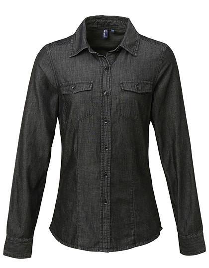 PW322 Premier Workwear Ladies` Jeans Stitch Denim Shirt