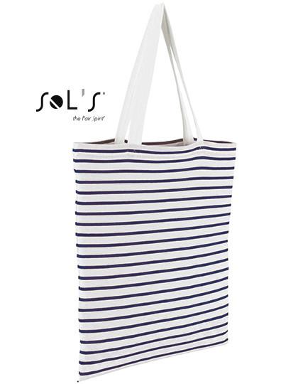 LB02097 SOL´S Bags Striped Jersey Shopping Bag Luna