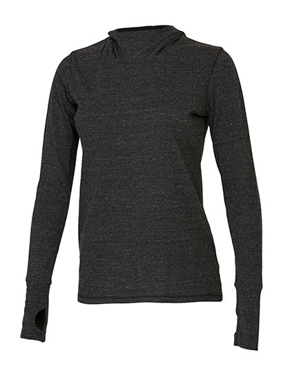 ALW3101 All Sport Women´s Performance Triblend Long Sleeve Hooded Pullover With Runner´s Thumb