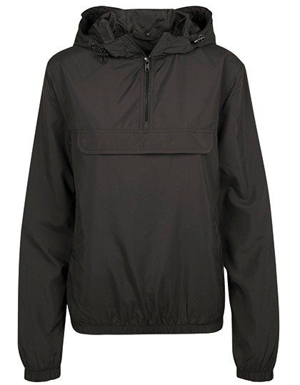 BY095 Build Your Brand Ladies Basic Pull Over Jacket