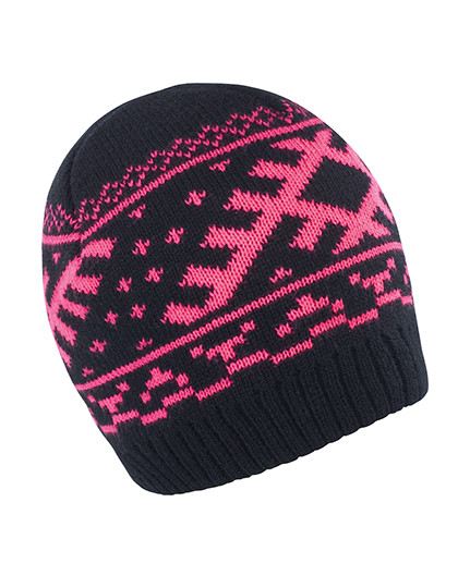 RC371 Result Winter Essentials Nordic Knitted Hat