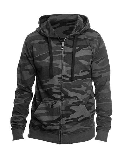 BU8615 Burnside Full Zip Camo Hooded Fleece Jacket