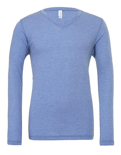 CV3425 Canvas Unisex Jersey Long Sleeve V-Neck T-Shirt
