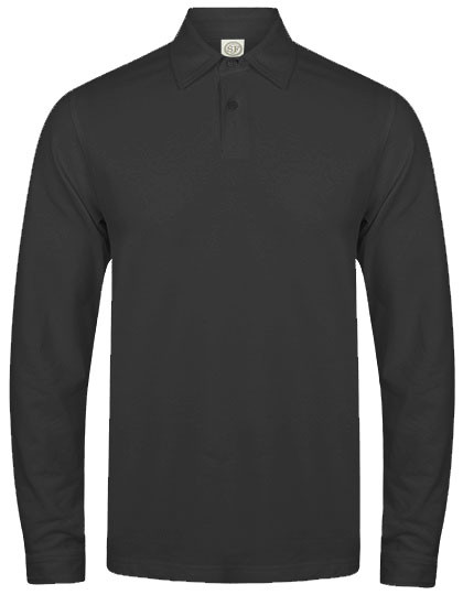 SFM44 SF Men Mens Long Sleeved Stretch Polo