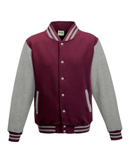 JH043K Just Hoods Kids Varsity Jacket