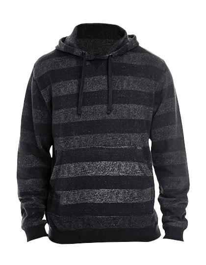 BU8603 Burnside Printed Striped Marl Pullover