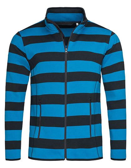 S5090 Stedman® Active Striped Fleece Jacket for men
