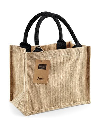 WM412 Westford Mill Jute Mini Gift Bag