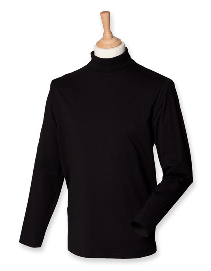 W020 Henbury Roll-Neck Long-Sleeve T-Shirt