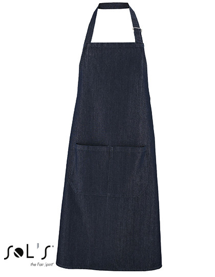 "L02104 SOL´S Denim Bib Apron Grant"" with Pocket"""