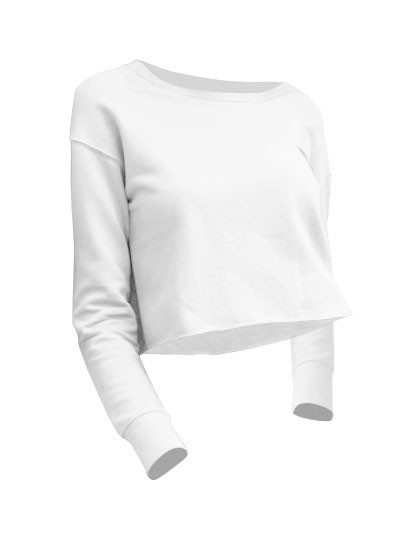 JH035 Just Hoods Girlie Cropped Sweat