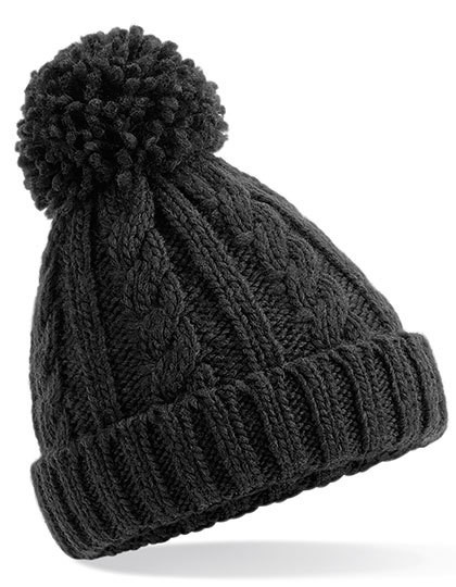 CB480b Beechfield Junior Cable Knit Melange Beanie