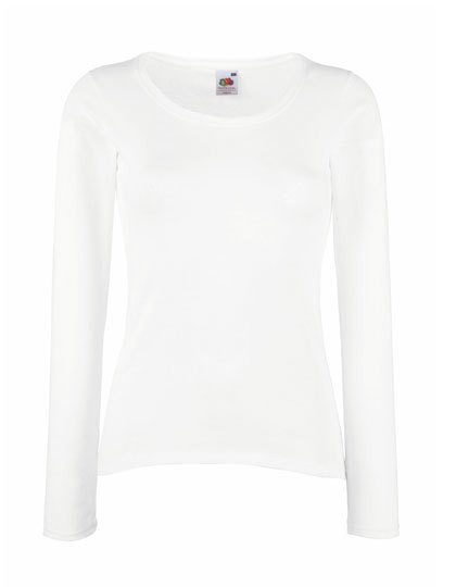 Fruit of the Loom Lady-Fit Valueweight Long Sleeve T