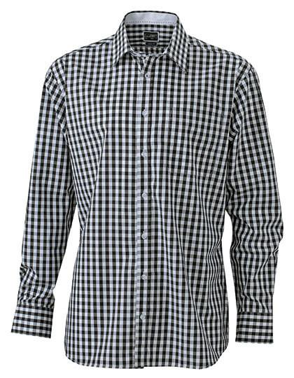 JN617 James+Nicholson Men`s Checked Shirt