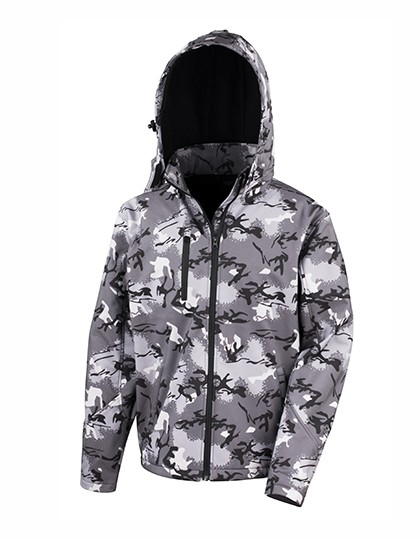 RT235 Result Camo TX Performance Hooded Softshell Jacket