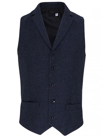 PW625 Premier Workwear Mens Herringbone Waistcoat