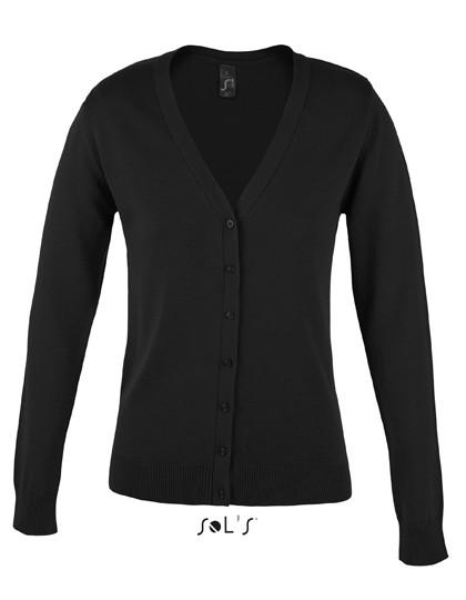 L419 SOL´S Golden Women V-Neck Knitted Cardigan