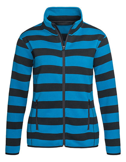 S5190 Stedman® Active Striped Fleece Jacket for women