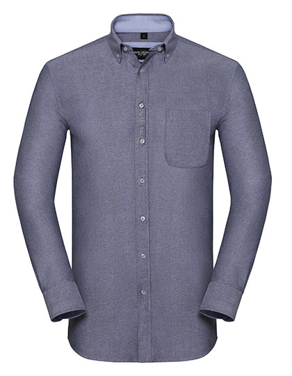 Z920 Russell Collection Men`s Long Sleeve Tailored Washed Oxford Shirt