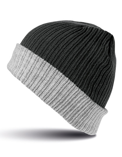 RC378 Result Winter Essentials Double Layer Knitted Hat