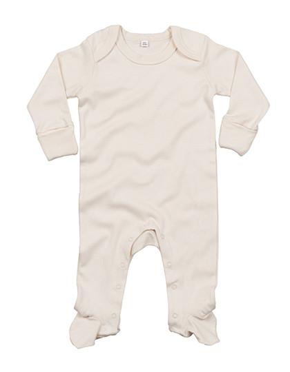 BZ35 Babybugz Baby Organic Sleepsuit with Scratch Mitts